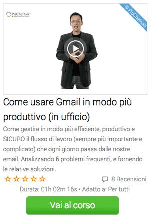 come usare gmail in modo produttivo in ufficio